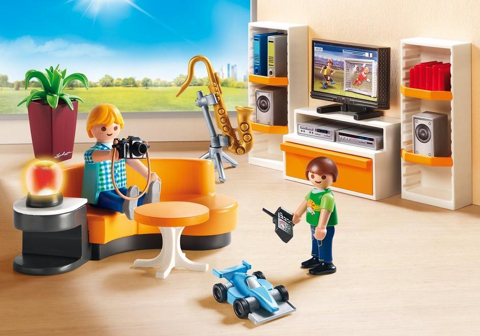 Playmobil set 9267 living room klickypedia for Wohnzimmer playmobil