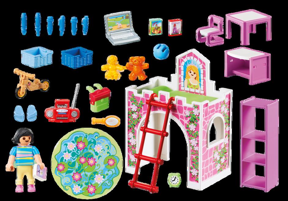 Playmobil set 9270 room for child klickypedia for Kinderzimmer playmobil