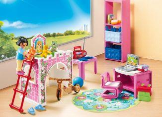 Playmobil set 9270 room for child klickypedia for Maison moderne playmobil 2018