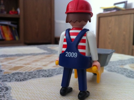 Playmobil 0000-ger - Maitenance Employee (U2, 2009) - Back