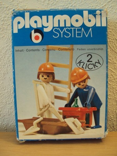 Playmobil 3160 - 2 Construction Workers - Box