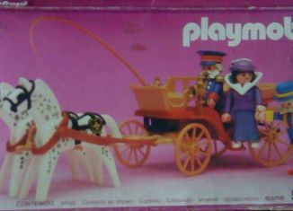 Playmobil - 5600-ant - Horse carriage , Victorian Lady with driver and doorman