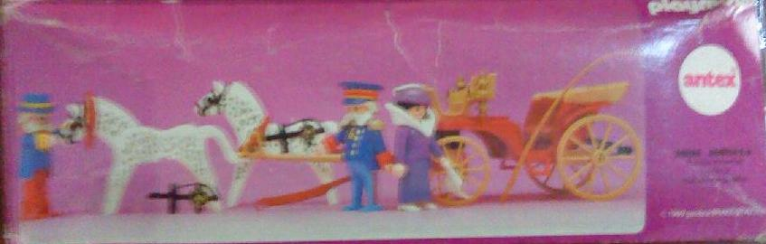 Playmobil 5600-ant - Horse carriage , Victorian Lady with driver and doorman - Back