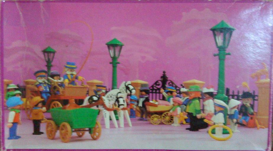Playmobil 5600-ant - Horse carriage , Victorian Lady with driver and doorman - Box