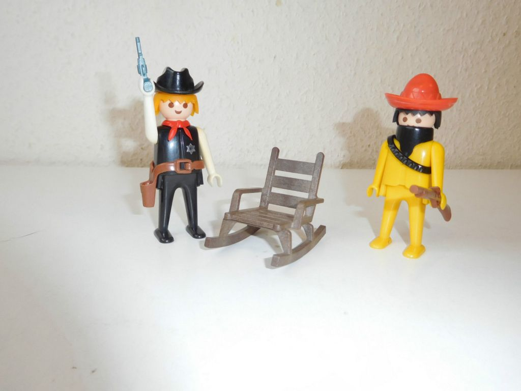Playmobil 3177 - Sheriff + Mexican bandit - Back