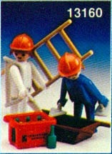 Playmobil 13160-aur - 2 Construction Workers - Box