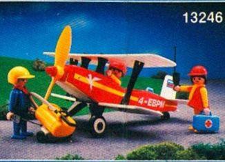 Playmobil - 13246-aur - Red biplane