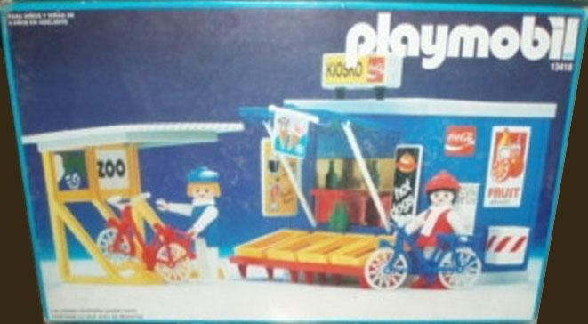 Playmobil 13418-aur - Kiosk and Bicycle Rack - Box