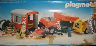 Playmobil - 13474-aur - Road Workers with Truck and Trailer