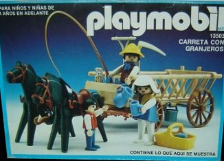 Playmobil - 13503-aur - Cart with farmers