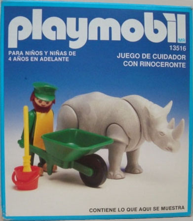 Playmobil 13516-aur - Rhino / feeder - Box