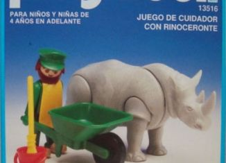 Playmobil - 13516-aur - Rhino / feeder