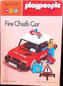 Playmobil 1756-pla - Fire Chief's Car - Caja