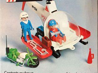 Playmobil - 1765v1-pla - Police Helicopter & Motor Bike