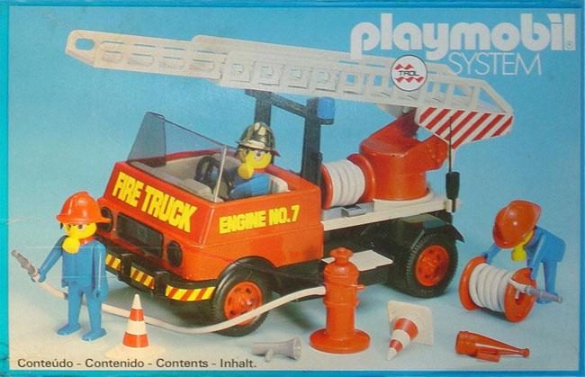 Playmobil 23.70.6-trol - Camion de pompiers - Boîte