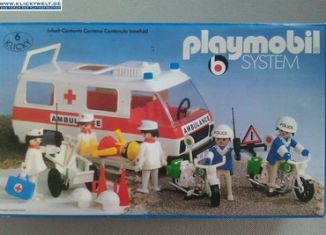 Playmobil - 3157s1 - Ambulance with Police and Rescue Workers