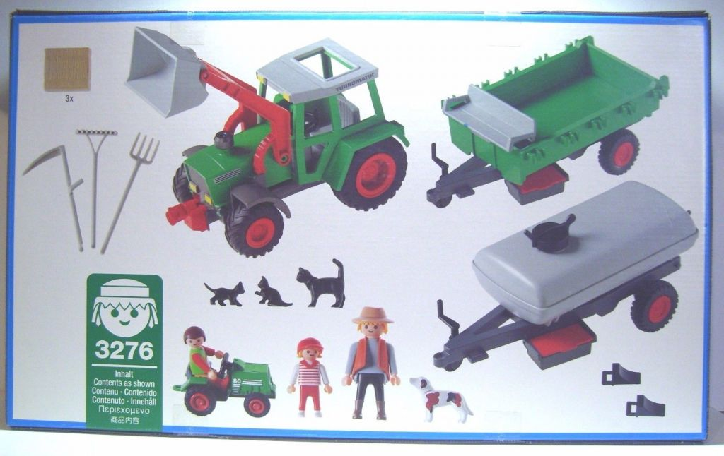 Playmobil 3276-ger - Traktor With Wagons - Back