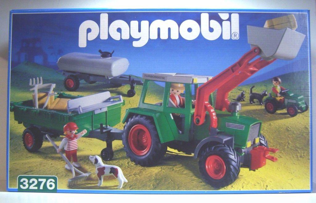 Playmobil 3276-ger - Traktor With Wagons - Box