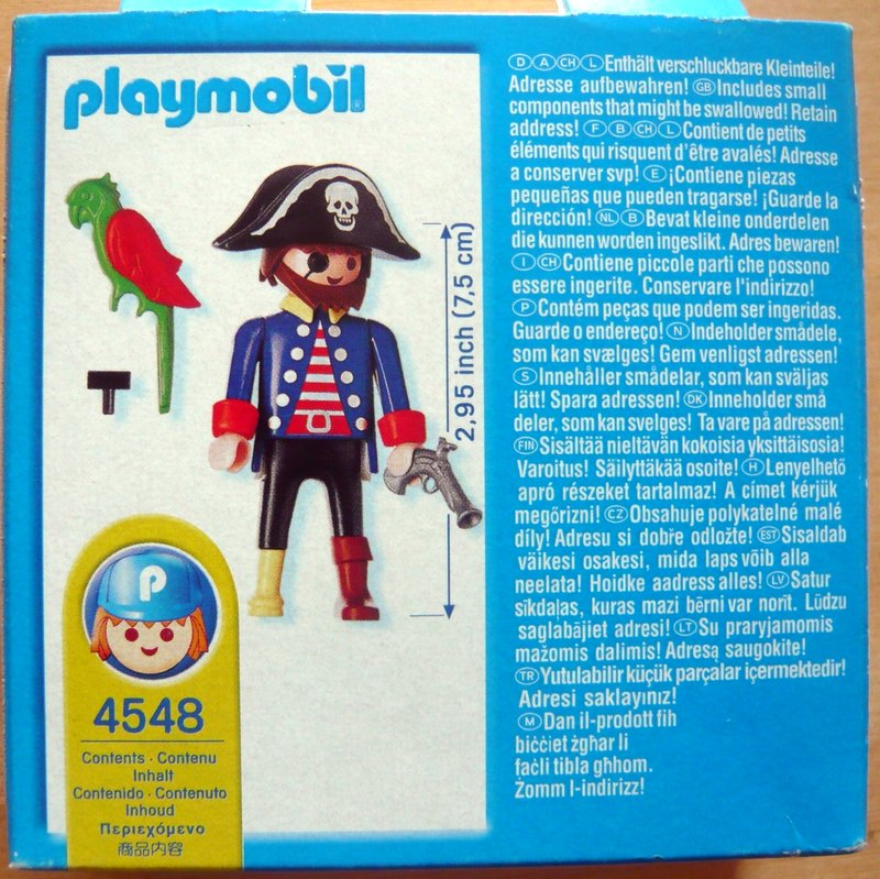 Playmobil 4548v1-usa - Captain peg-leg - Back