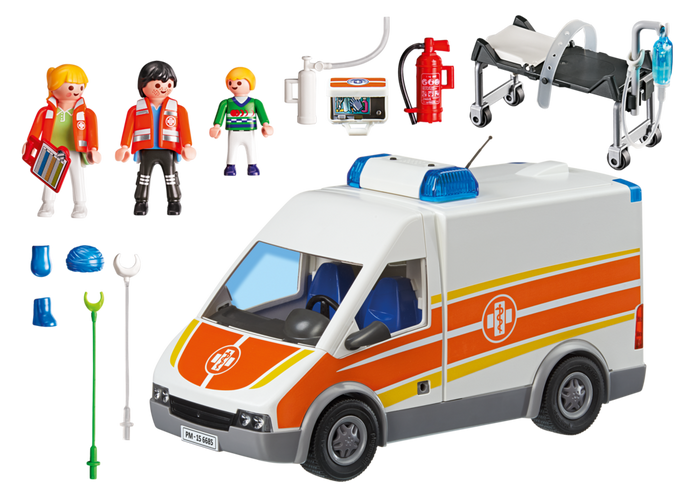 Playmobil 6685 - Ambulance with lights and sound - Back