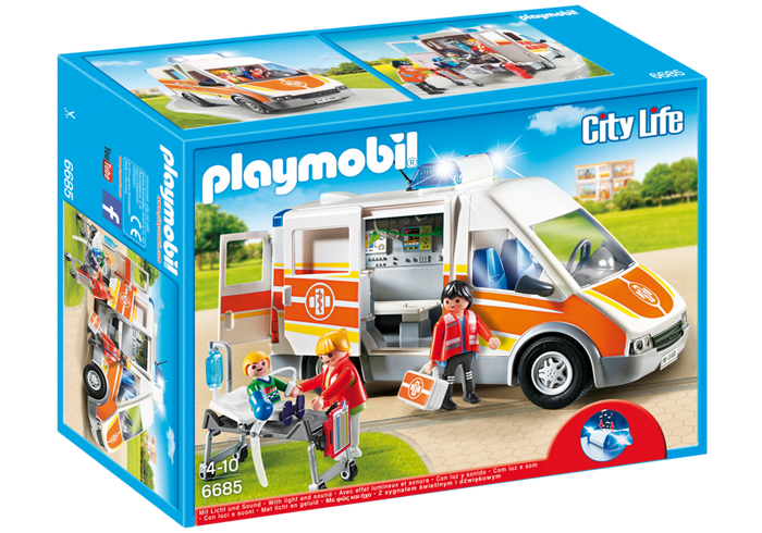 Playmobil 6685 - Ambulance with lights and sound - Box