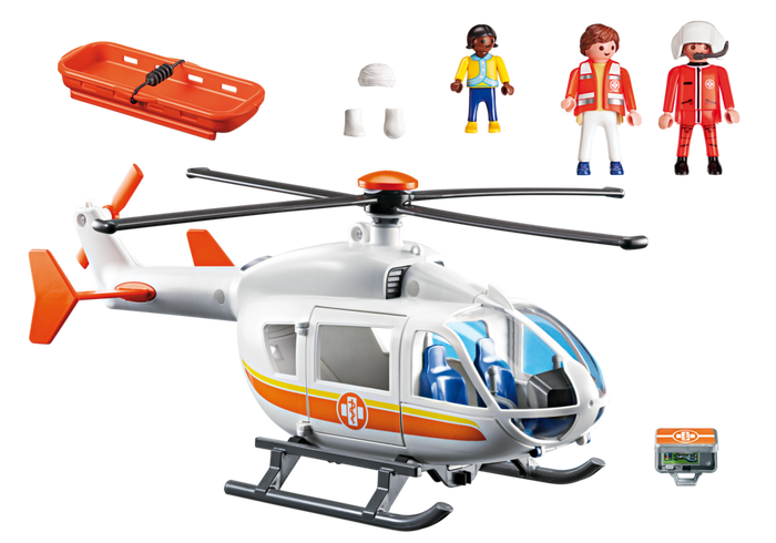 Playmobil 6686 - Rettungshelikopter - Back