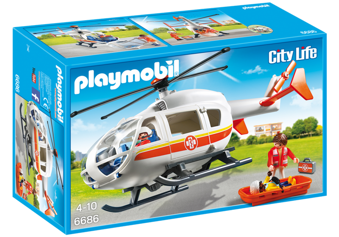 Playmobil 6686 - Rettungshelikopter - Box