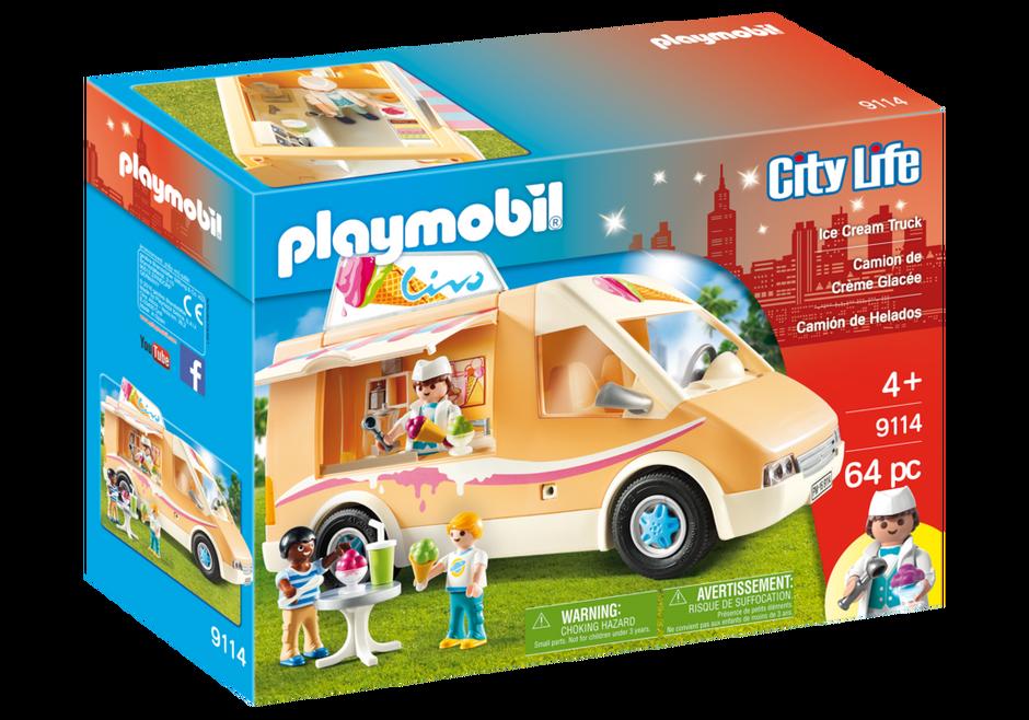 Playmobil 9114-usa - Ice Cream Truck - Box