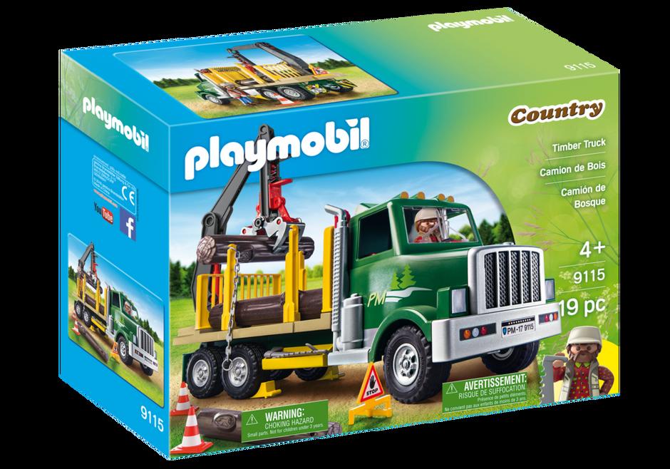 Playmobil set 9115 usa timber truck klickypedia - Playmobil camion ...