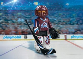 Playmobil - 9189-usa - NHL® Colorado Avalanche® Goalie