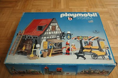 Playmobil 3183 - Backery + market stand - Box