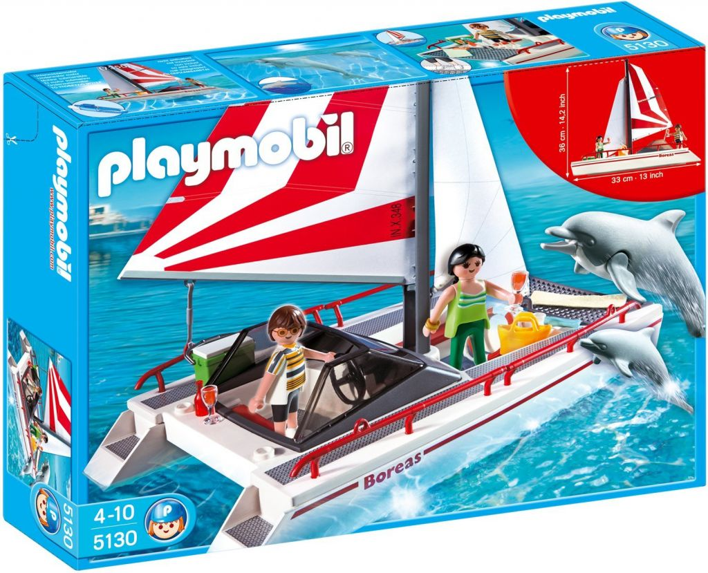 Playmobil 5130 - Catamaran Sailboat with Dolphins - Box