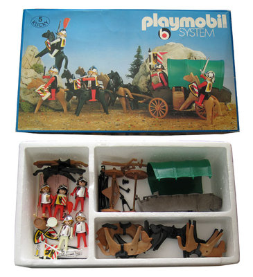 Playmobil 3176s1 - Nuremburg Guards + covered wagon - Box