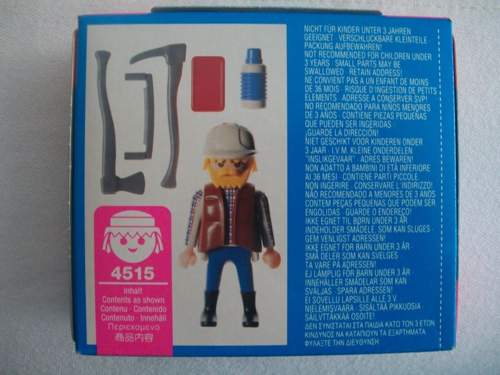 Playmobil 4515 - Lumberjack - Back