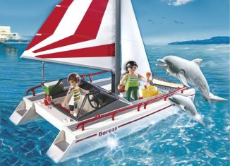 Playmobil - 5130 - Catamaran Sailboat with Dolphins