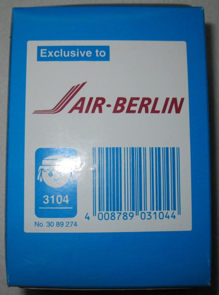 Playmobil 3104 - Pilot/Stewardess Air Berlin - Back