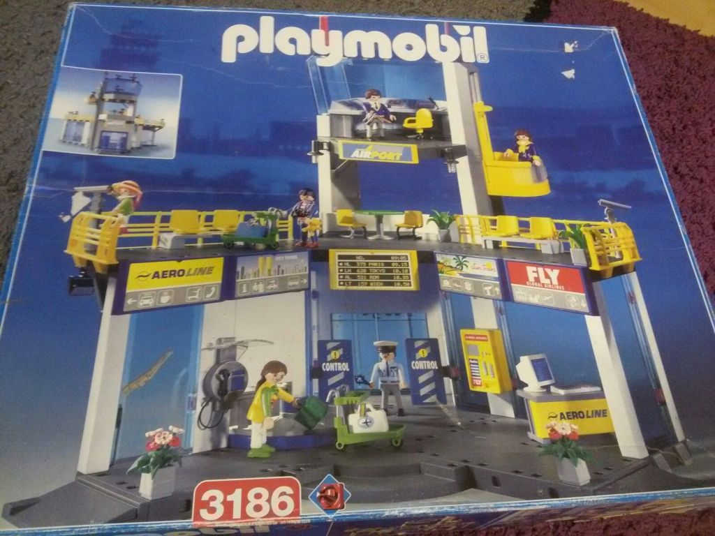 Playmobil 3186v1 - Gate with tower/ NY skyline Twin towers - Box