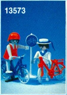Playmobil 13573v1-aur - Couple on Bicycles - Box