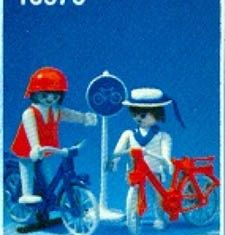 Playmobil - 13573v1-aur - Couple on Bicycles
