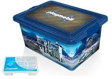 Playmobil - 00000 - 23L Storage Box + Compartment Case - Police