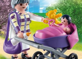 Playmobil - 9413-gre - Grandmother with baby
