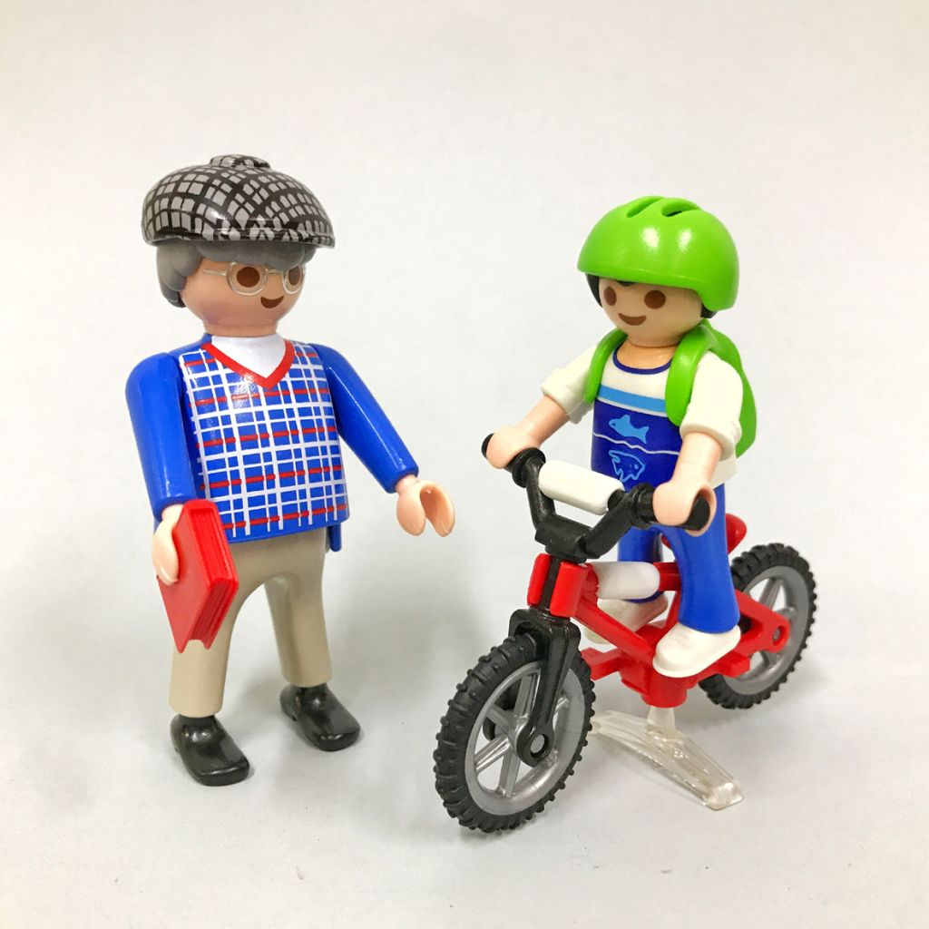 Playmobil 9414-gre - Grandfather with child - Back