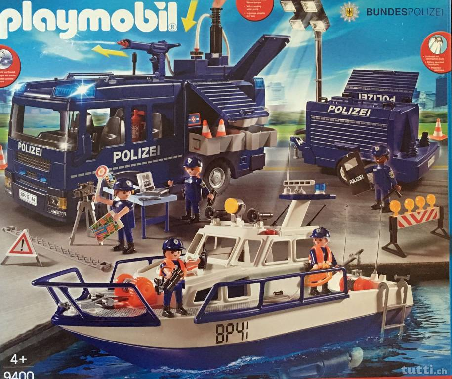 Playmobil 9400-ger - Federal police - large scale deployment - Box