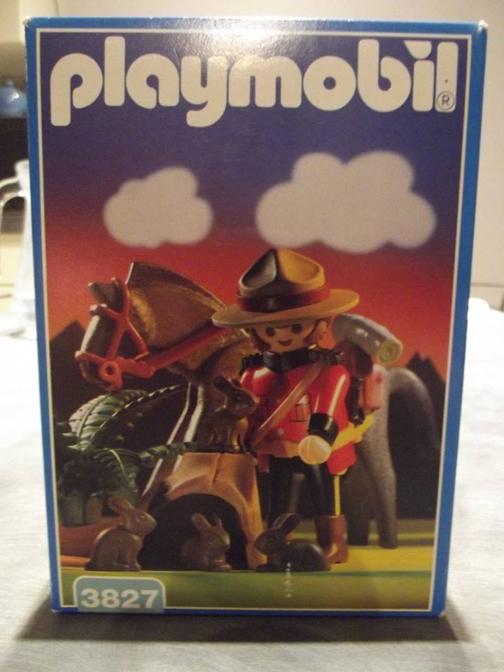 Playmobil 3827 - Kanadischer Mounty - Box
