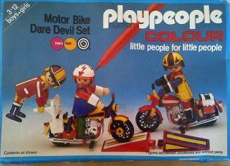 Playmobil - 1605-pla - Motor Bike Dare Devil Set