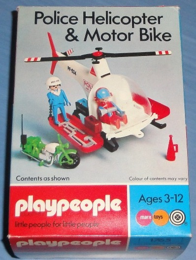 Playmobil 1765v1-pla - Police Helicopter & Motor Bike - Box