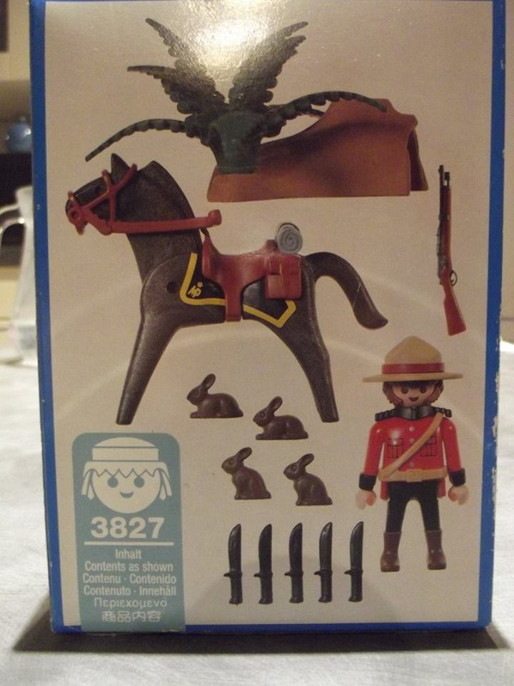 Playmobil 3827 - Canadian Mounty - Back