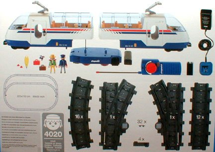 Playmobil 4020-usa - Radio Control Express - Back