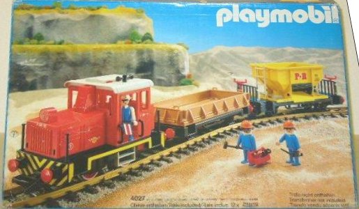 Playmobil 4027 - Diesel Freight Train Set - Box