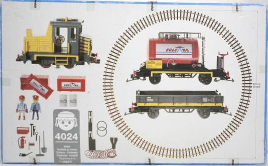 Playmobil 4024-usa - Diesel Train Set - Back